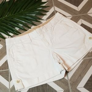 Banana Republic Size 4 White Rolled Cuff Shorts